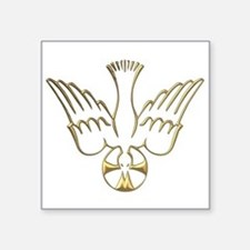 Golden Descent of The Holy Spirit Symbol Square St