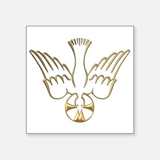 Golden Descent of The Holy Spirit Symbol Square St