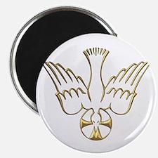 """Golden Descent of The Holy Spirit Symbol 2.25"""" Mag"""