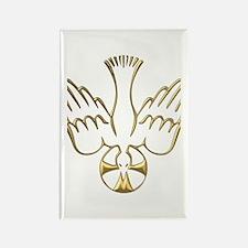 Golden Descent of The Holy Spirit Symbol Rectangle