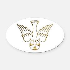 Golden Descent of The Holy Spirit Symbol Oval Car