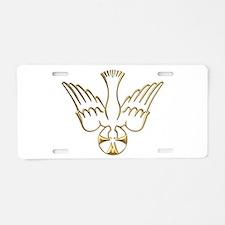 Golden Descent of The Holy Spirit Symbol Aluminum