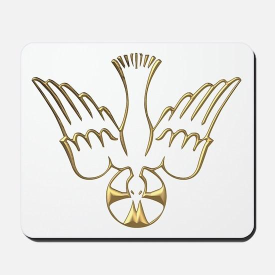 Golden Descent of The Holy Spirit Symbol Mousepad