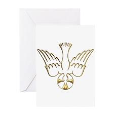 Golden Descent of The Holy Spirit Symbol Greeting