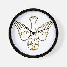 Golden Descent of The Holy Spirit Symbol Wall Cloc