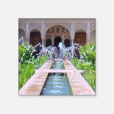 """Alhambra water fountain Square Sticker 3"""" x 3"""""""