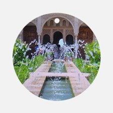 Alhambra water fountain Round Ornament