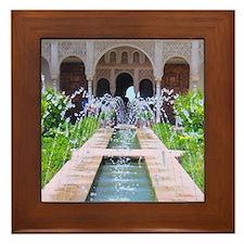 Alhambra water fountain Framed Tile