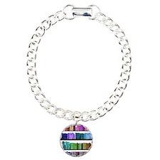 Rainbow bookshelf Charm Bracelet, One Charm