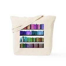 Rainbow bookshelf Tote Bag