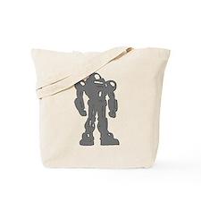 Grey Robot Tote Bag