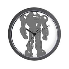 Grey Robot Wall Clock