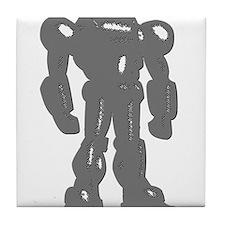 Grey Robot Tile Coaster