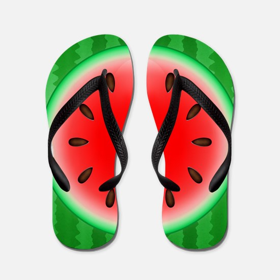 Watermelon Slice Flip Flops