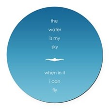 Water is My Sky Round Car Magnet