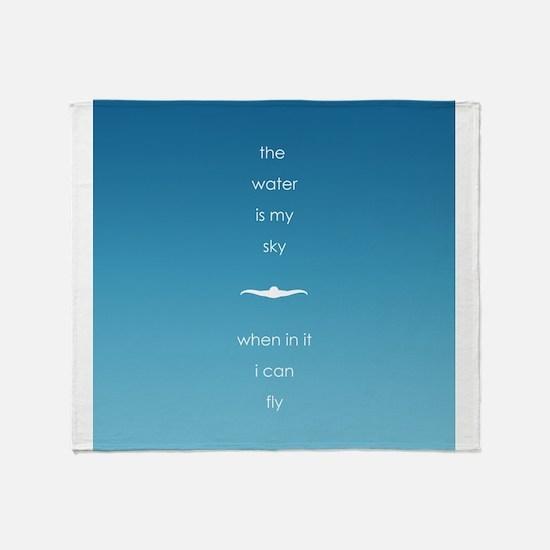 Water is My Sky Throw Blanket