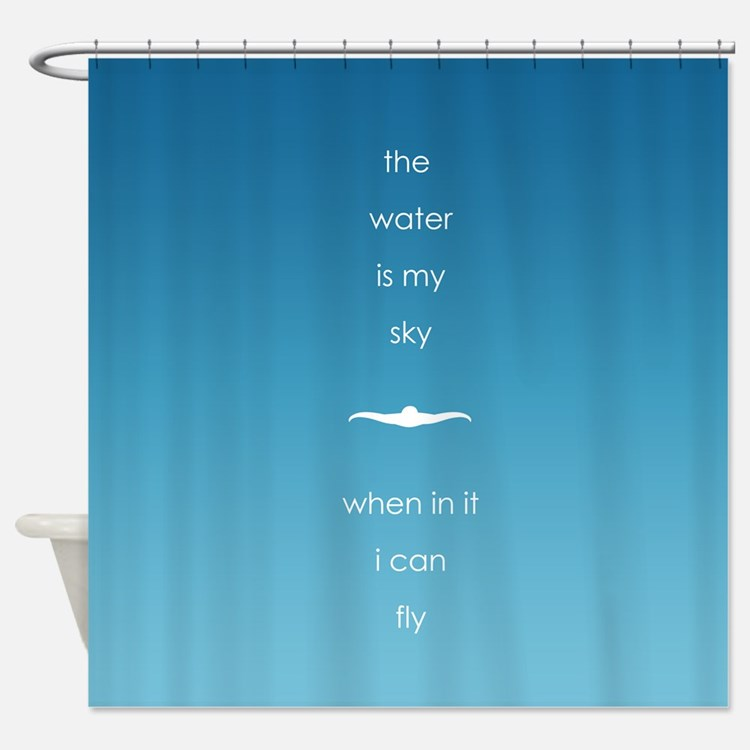 Water is My Sky Shower Curtain