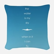 Water is My Sky Woven Throw Pillow