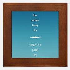 Water is My Sky Framed Tile