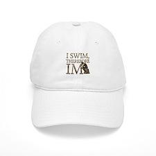 I Swim Therefore IM Baseball Baseball Cap
