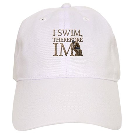 I Swim Therefore IM Baseball Cap