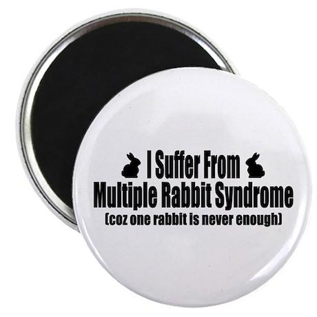 "Multiple Rabbit Syndrome 2.25"" Magnet (100 pack)"