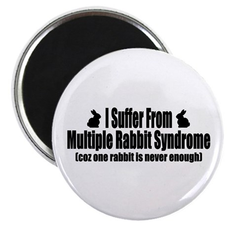 "Multiple Rabbit Syndrome 2.25"" Magnet (10 pack)"