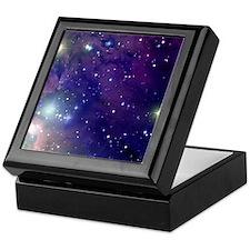 Space sky with bright stars Keepsake Box