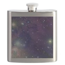 Space sky with bright stars Flask