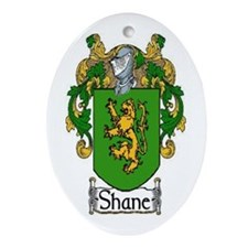 Shane Coat of Arms Oval Ornament