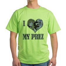I Heart My Prez Blue .png T-Shirt