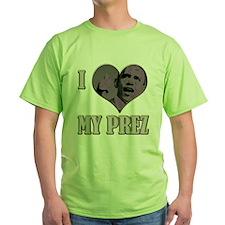 I Heart My Prez Pink .png T-Shirt