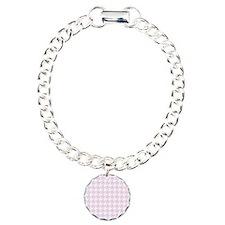Pink houndstooth pattern Bracelet
