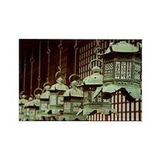 Japanese Lanterns Rectangle Magnet