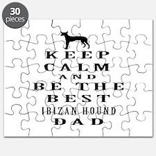 Ibizan Hound Dad Designs Puzzle