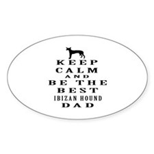 Ibizan Hound Dad Designs Decal