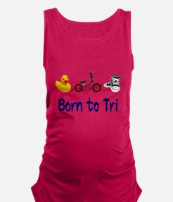 Born to Tri Maternity Tank Top