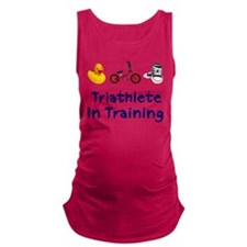 Triathlete in Training Maternity Tank Top