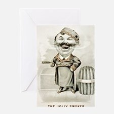 The jolly smoker - 1880 Greeting Card