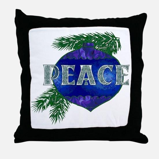 Christmas Peace Ornament Throw Pillow