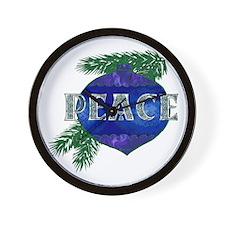 Christmas Peace Ornament Wall Clock
