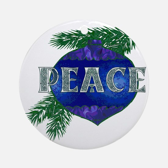 Christmas Peace Ornament Round Ornament