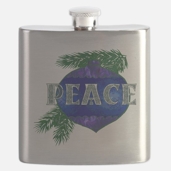 Christmas Peace Ornament Flask