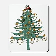 Peace Holiday Tree Mousepad