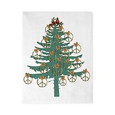 Peace Holiday Tree Twin Duvet