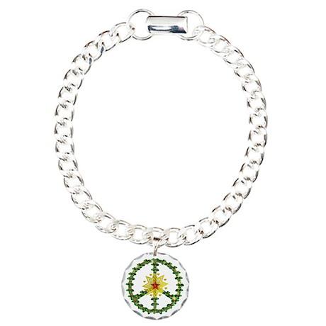 Peace Star Christmas Charm Bracelet, One Charm