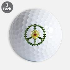 Peace Star Christmas Golf Ball