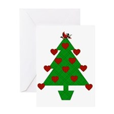 Heart Holiday Tree Greeting Card