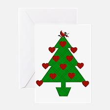 Heart Holiday Tree Greeting Card