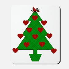 Heart Holiday Tree Mousepad